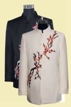 Modernised Mao Suit w/ Plum Blossoms Embroidery (RM)