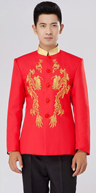 Modernised Mao Suit w/ Dual-dragon Embroidery (RM)