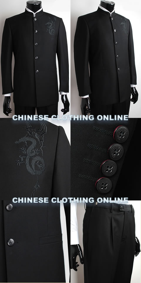Modernised Mao Suit w/ Dragon Embroidery (RM)