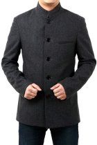 Modernised Mao Jacket in Heavy Wool fabric (RM)