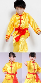 Bargain - Kid's Kung Fu Uniform with Sash - Yellow (RM)