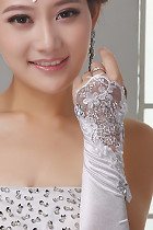 Women Lace Gloves (White)