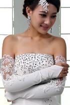 女仕特長蕾絲手套 (白色)
