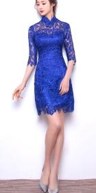 Elbow-sleeve Short-length Prom Cheongsam (RM)