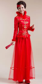 Long-sleeve Long-length Bridal Cheongsam (RM)