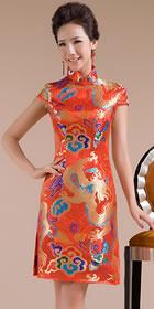 Cup-sleeve Short-length Bridal Cheongsam (RM)