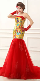 Bare-shoulders Imperial Dragon Prom Dress (RM)