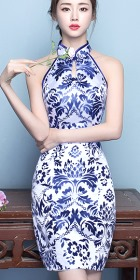 Cut-in-shoulder Short-length Prom Cheongsam (RM)