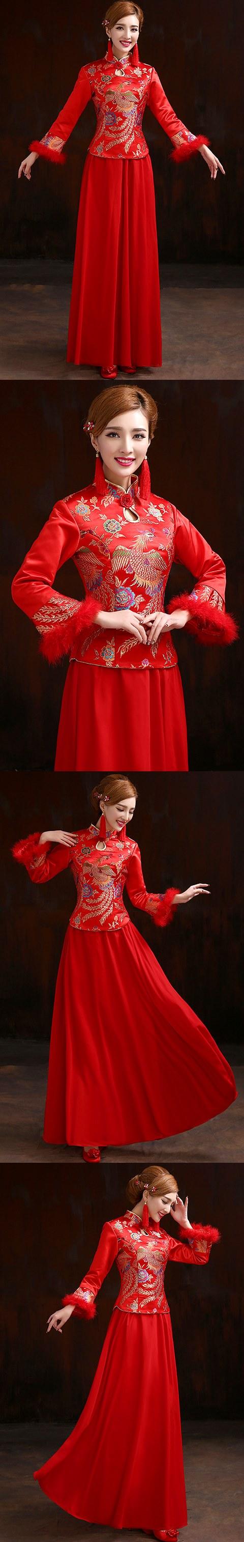 Long-sleeve Long-length Cheongsam (RM)