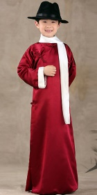 Kid's Mandarin Robe w/ White Folding Cuffs (RM)