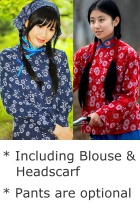 Chinese Peasant Girl Folk Costume (Ready-Made)