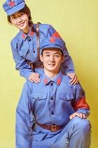 中國紅軍服套裝 (藍色)