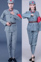 Chinese Red Army Uniform Outfit (Grey)