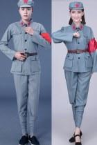 中國紅軍服套裝 (灰色)