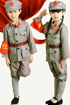 Kids' People's Liberation Army / Red Guard Outfit (Grey)