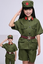 Kids' People's Liberation Army / Red Guard Outfit (Green)