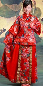 Red Wedding Skirt Suit