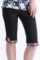 花卉刺繡中式膝長褲子 (成衣)