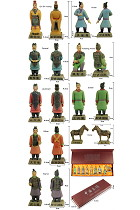 Colored 9-piece (8cm) Miniature Terrac彩色otta Army