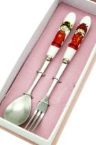 中國風瓷柄餐具套裝