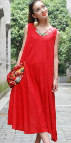 Ethnic Floral Printing A-line Dress (CM)