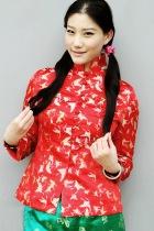 Long-sleeve Mandarin  Wadded Jacket (CM)