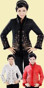 Mandarin Embroidery Wadded Jacket (RM)