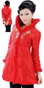 Mandarin Wadded Embroidery Long Jacket (RM)