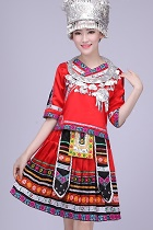 Chinese Ethnic Dancing Costume - Miao Zu