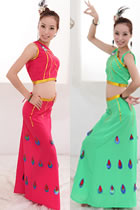 Chinese Ethnic Dancing Costume - Dai Zu's Peacock Dancing Dress