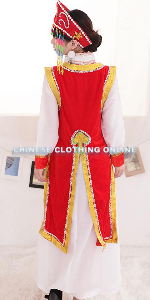 Chinese Ethnic Dancing Costume - Menggu Zu