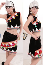 Chinese Ethnic Dancing Costume - Wa Zu