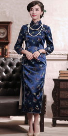 Long-sleeve 3/4-length Cheongsam (CM)
