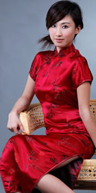 Short-sleeve Long-length Cheongsam (CM)