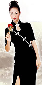 Mid-sleeve Long-length Cheongsam (CM)