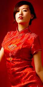 Short-sleeve Long-length Cheongsam (CM)