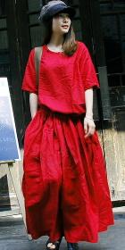 Ethnic Loose A-line Long Dress (CM)