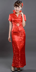 Bargain - Short-sleeve Long-length Qungua (Red)