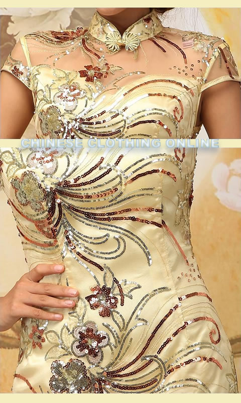 Cup-sleeve Long-length Cheongsam (RM)