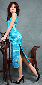 Sleeveless Long-length Cheongsam (CM)