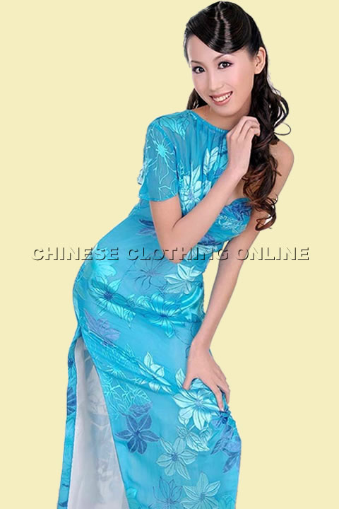One Soulder Long-length Cheongsam (CM)