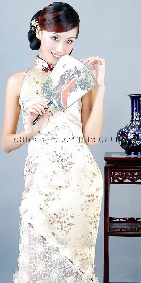 Cut-in Shoulders Long-length Cheongsam (CM)