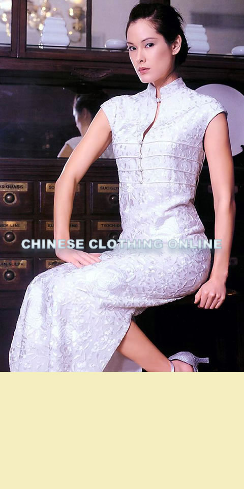 Mini Cup-sleeve Long-length Cheongsam (CM)