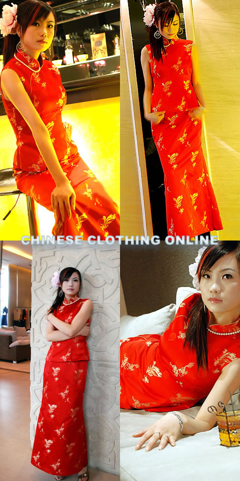 2-piece Sleeveless Long-length Cheongsam (CM)