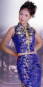 2-peice Sleeveless Long-length Cheongsam (CM)