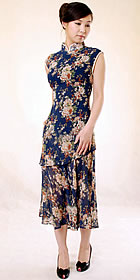 Sleeveless 2-peice Long-length Cheongsam (CM)