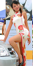 Cut-in Shoulders Barback Long-length Cheongsam (CM)