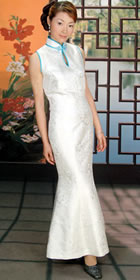 Sleeveless Long-length Fishtail Cheongsam (CM)