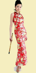 Cut-in Shoulders Fishtail Cheongsam (CM)