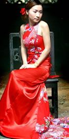 Bare Shoulders Long-length Cheongsam (CM)